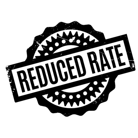 retailing: Reduced Rate rubber stamp. Grunge design with dust scratches. Effects can be easily removed for a clean, crisp look. Color is easily changed. Illustration