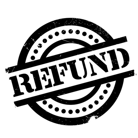 Refund rubber stamp. Grunge design with dust scratches. Effects can be easily removed for a clean, crisp look. Color is easily changed. Illustration