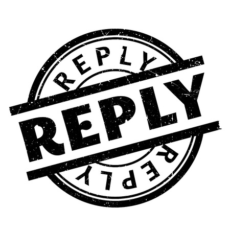 Reply rubber stamp. Grunge design with dust scratches. Effects can be easily removed for a clean, crisp look. Color is easily changed.