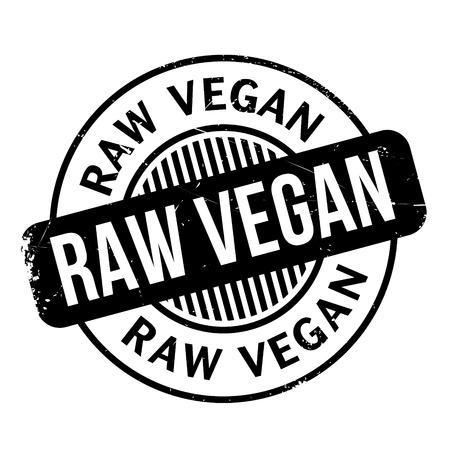 Raw Vegan Stempel. Grunge-Design mit Staub Kratzern. Effekte können leicht für einen sauberen, klaren Look entfernt werden. Farbe wird leicht gewechselt. Vektorgrafik