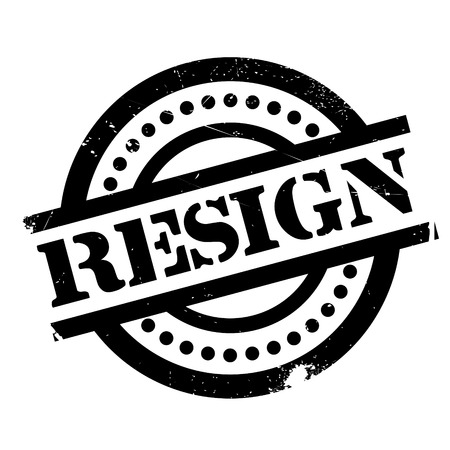 Resign rubber stamp. Grunge design with dust scratches. Effects can be easily removed for a clean, crisp look. Color is easily changed.