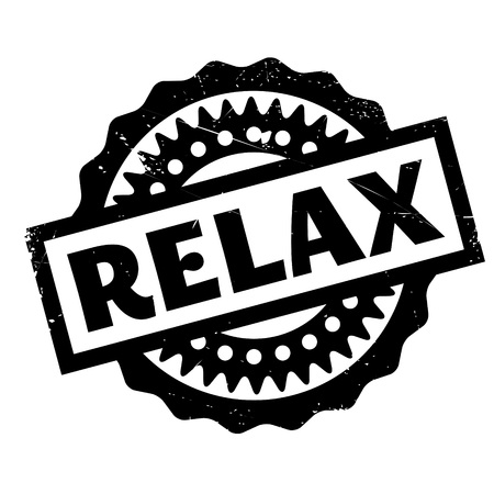 Relax rubber stamp. Grunge design with dust scratches. Effects can be easily removed for a clean, crisp look. Color is easily changed. Illusztráció