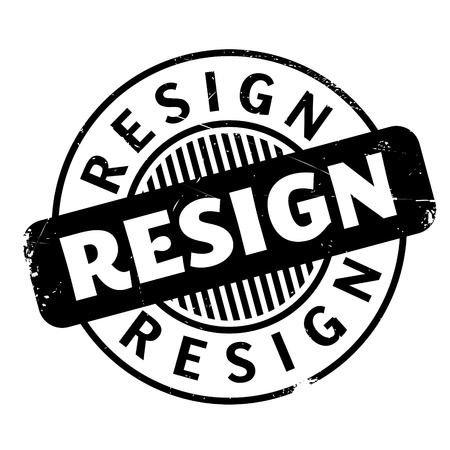 abandon: Resign rubber stamp. Grunge design with dust scratches. Effects can be easily removed for a clean, crisp look. Color is easily changed.