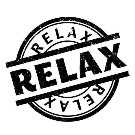 Relax rubber stamp. Grunge design with dust scratches. Effects can be easily removed for a clean, crisp look. Color is easily changed. Stock Photo