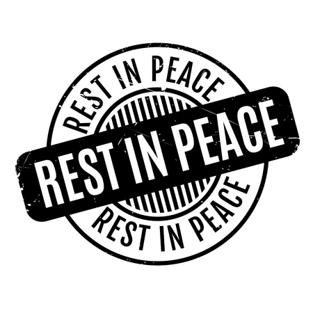 warrant: Rest In Peace rubber stamp. Grunge design with dust scratches. Effects can be easily removed for a clean, crisp look. Color is easily changed.