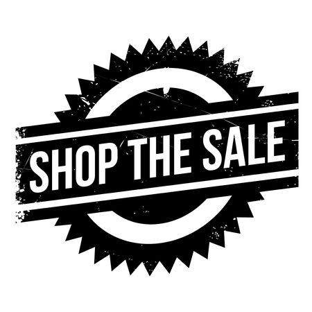 trade off: Shop The Sale rubber stamp. Grunge design with dust scratches. Effects can be easily removed for a clean, crisp look. Color is easily changed.