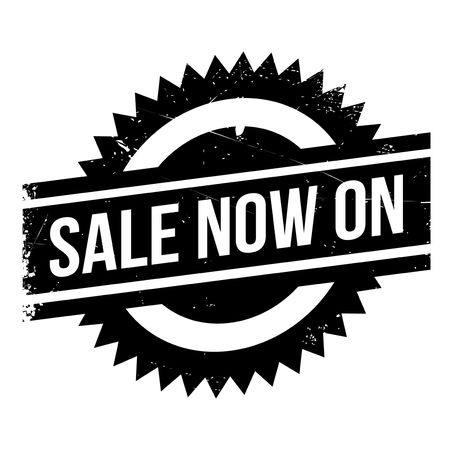 Sale Now On rubber stamp. Grunge design with dust scratches. Effects can be easily removed for a clean, crisp look. Color is easily changed. Vektoros illusztráció