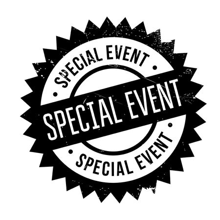 Special Event rubber stamp. Grunge design with dust scratches. Effects can be easily removed for a clean, crisp look. Color is easily changed.