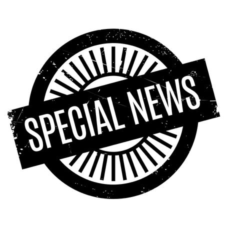 telegrama: Special News rubber stamp. Grunge design with dust scratches. Effects can be easily removed for a clean, crisp look. Color is easily changed.