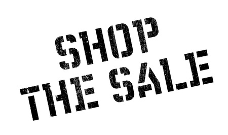 emporium: Shop The Sale rubber stamp. Grunge design with dust scratches. Effects can be easily removed for a clean, crisp look. Color is easily changed.