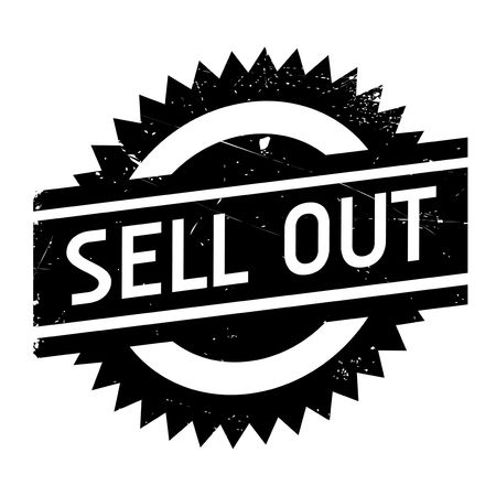 Sell Out rubber stamp. Grunge design with dust scratches. Effects can be easily removed for a clean, crisp look. Color is easily changed.