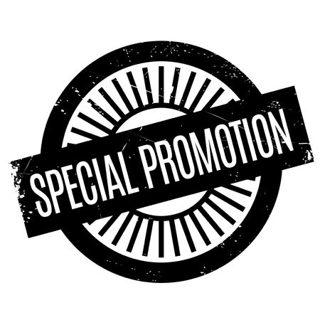 Special Promotion rubber stamp. Grunge design with dust scratches. Effects can be easily removed for a clean, crisp look. Color is easily changed.