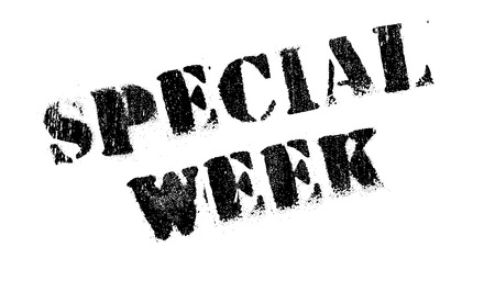 Special Week rubber stamp. Grunge design with dust scratches. Effects can be easily removed for a clean, crisp look. Color is easily changed.