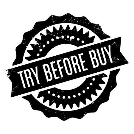 Essayez avant d'acheter un tampon en caoutchouc. Design grunge avec rayures de poussière. Les effets peuvent être facilement éliminés pour un look net et net. La couleur est facilement modifiée.