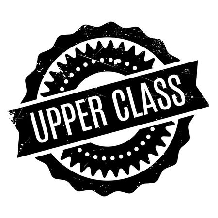 Upper Class rubber stamp. Grunge design with dust scratches. Effects can be easily removed for a clean, crisp look. Color is easily changed.