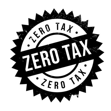 Zero Tax rubber stamp. Grunge design with dust scratches. Effects can be easily removed for a clean, crisp look. Color is easily changed. Illustration