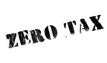 impost: Zero Tax rubber stamp. Grunge design with dust scratches. Effects can be easily removed for a clean, crisp look. Color is easily changed. Illustration
