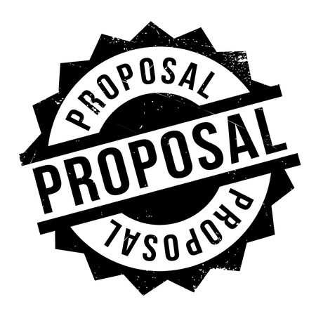 proposed: Proposal rubber stamp. Grunge design with dust scratches. Effects can be easily removed for a clean, crisp look. Color is easily changed. Illustration