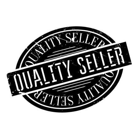 Quality Seller rubber stamp. Grunge design with dust scratches. Effects can be easily removed for a clean, crisp look. Color is easily changed. Illustration