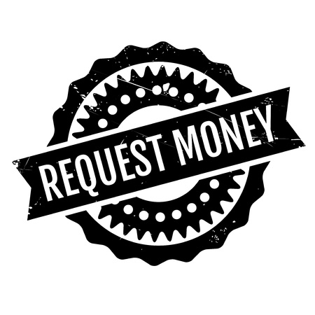 begging: Request Money rubber stamp. Grunge design with dust scratches. Effects can be easily removed for a clean, crisp look. Color is easily changed. Illustration