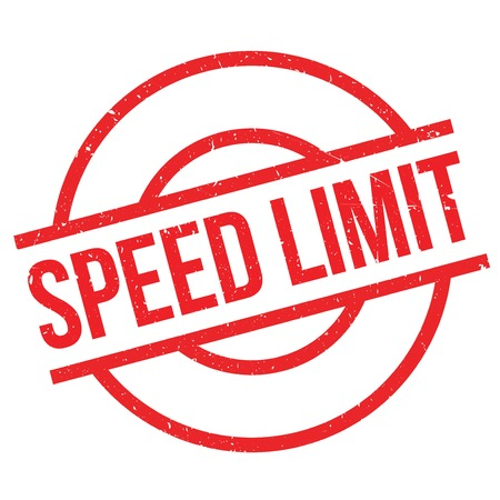 autobahn: Speed Limit rubber stamp. Grunge design with dust scratches. Effects can be easily removed for a clean, crisp look. Color is easily changed. Illustration