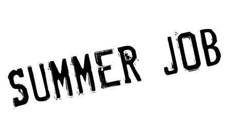 midsummer: Summer Job rubber stamp. Grunge design with dust scratches. Effects can be easily removed for a clean, crisp look. Color is easily changed.