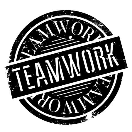 enlist: Teamwork rubber stamp. Grunge design with dust scratches. Effects can be easily removed for a clean, crisp look. Color is easily changed.