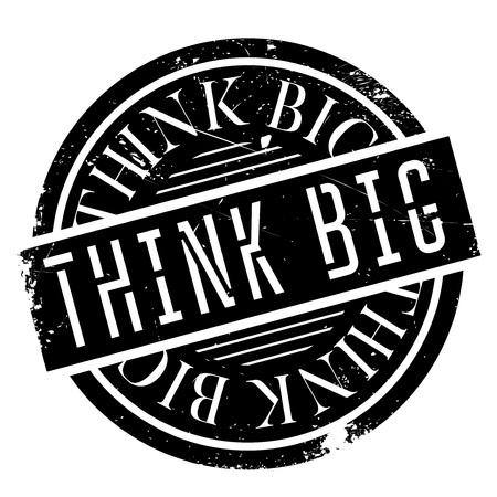 guess: Think Big rubber stamp. Grunge design with dust scratches. Effects can be easily removed for a clean, crisp look. Color is easily changed.