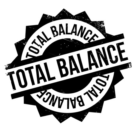 Total Balance rubber stamp. Grunge design with dust scratches. Effects can be easily removed for a clean, crisp look. Color is easily changed.