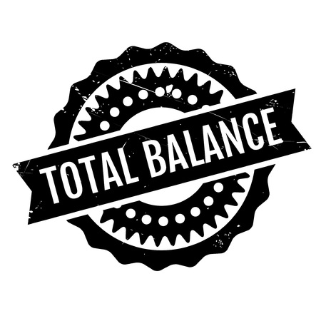 stasis: Total Balance rubber stamp. Grunge design with dust scratches. Effects can be easily removed for a clean, crisp look. Color is easily changed.