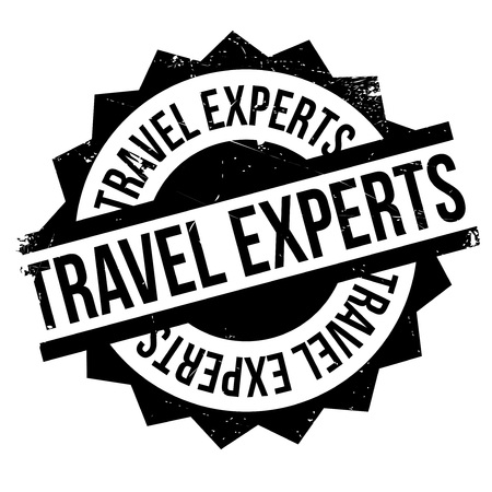 wandering: Travel Experts rubber stamp. Grunge design with dust scratches. Effects can be easily removed for a clean, crisp look. Color is easily changed.