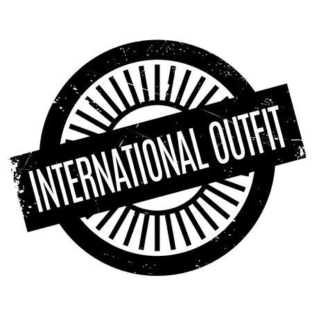 timbre international en caoutchouc Outfit. conception grunge avec des rayures de poussière. Les effets peuvent être facilement enlevés pour un look propre et net. La couleur est facilement changé.