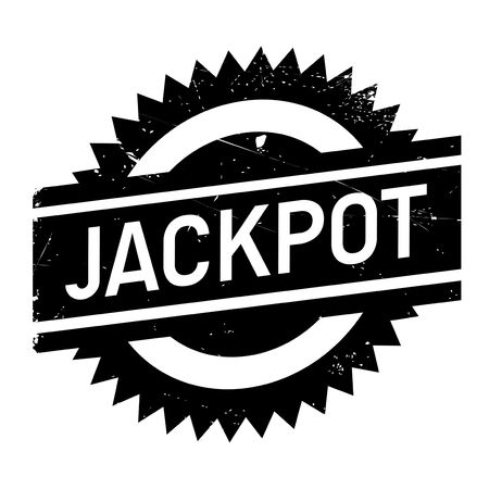 Jackpot rubber stamp. Grunge design with dust scratches. Effects can be easily removed for a clean, crisp look. Color is easily changed. Vector Illustration