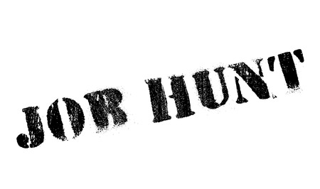 inquest: Job Hunt rubber stamp. Grunge design with dust scratches. Effects can be easily removed for a clean, crisp look. Color is easily changed.