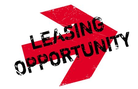 Leasing Opportunity rubber stamp. Grunge design with dust scratches. Effects can be easily removed for a clean, crisp look. Color is easily changed. Illustration