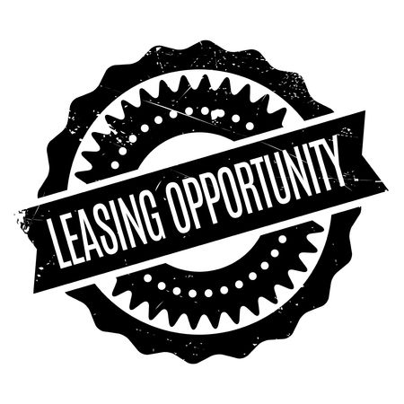 fling: Leasing Opportunity rubber stamp. Grunge design with dust scratches. Effects can be easily removed for a clean, crisp look. Color is easily changed. Illustration