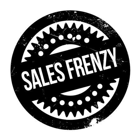frenzy: Sales Frenzy rubber stamp. Grunge design with dust scratches. Effects can be easily removed for a clean, crisp look. Color is easily changed.