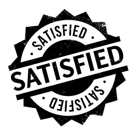 gratified: Satisfied rubber stamp. Grunge design with dust scratches. Effects can be easily removed for a clean, crisp look. Color is easily changed.
