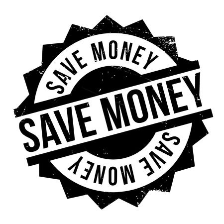 Save Money rubber stamp. Grunge design with dust scratches. Effects can be easily removed for a clean, crisp look. Color is easily changed.