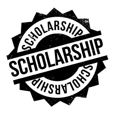 erudition: Scholarship rubber stamp. Grunge design with dust scratches. Effects can be easily removed for a clean, crisp look. Color is easily changed.