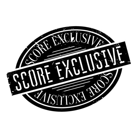 Score Exclusive rubber stamp. Grunge design with dust scratches. Effects can be easily removed for a clean, crisp look. Color is easily changed. Illustration