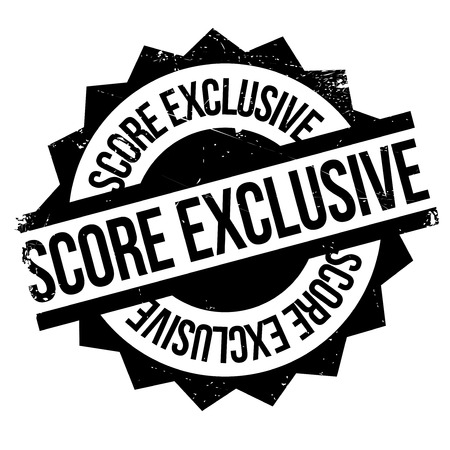 segregated: Score Exclusive rubber stamp. Grunge design with dust scratches. Effects can be easily removed for a clean, crisp look. Color is easily changed. Illustration