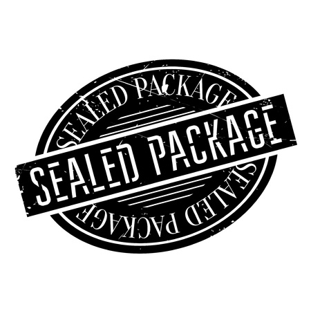 deliberation: Sealed Package rubber stamp. Grunge design with dust scratches. Effects can be easily removed for a clean, crisp look. Color is easily changed. Illustration