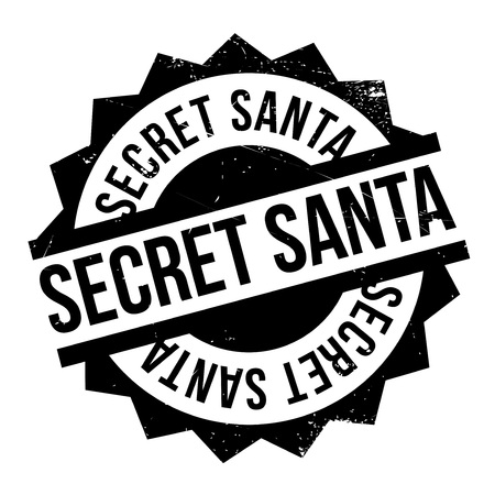 stealthy: Secret Santa rubber stamp. Grunge design with dust scratches. Effects can be easily removed for a clean, crisp look. Color is easily changed.