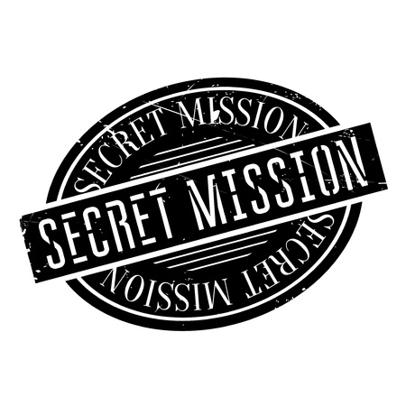 veiled: Secret Mission rubber stamp. Grunge design with dust scratches. Effects can be easily removed for a clean, crisp look. Color is easily changed.