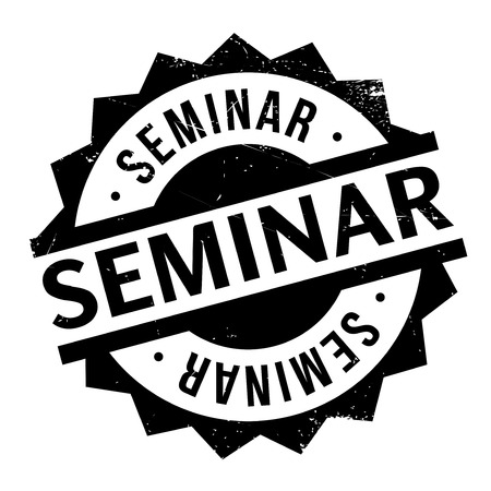 Seminar rubber stamp. Grunge design with dust scratches. Effects can be easily removed for a clean, crisp look. Color is easily changed. Векторная Иллюстрация