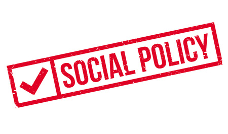 nhs: Social Policy rubber stamp. Grunge design with dust scratches. Effects can be easily removed for a clean, crisp look. Color is easily changed.