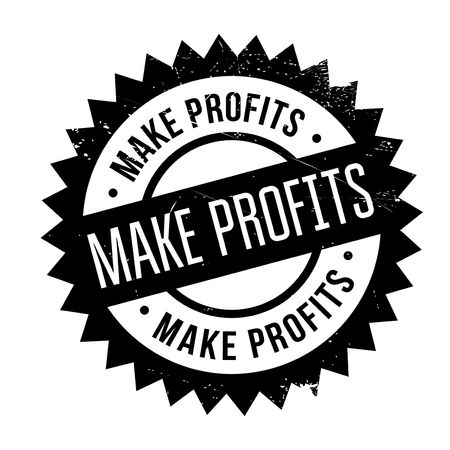Make Profits rubber stamp. Grunge design with dust scratches. Effects can be easily removed for a clean, crisp look. Color is easily changed.