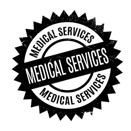 favor: Medical Services rubber stamp. Grunge design with dust scratches. Effects can be easily removed for a clean, crisp look. Color is easily changed.