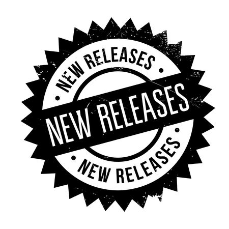 deliverance: New Releases rubber stamp. Grunge design with dust scratches. Effects can be easily removed for a clean, crisp look. Color is easily changed. Illustration